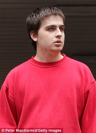 Ryan Clearly is pictured outside Southwark Crown Court in June 2011 where was accused of hacking into the website of the UK's Serious and Organised Crime Agency