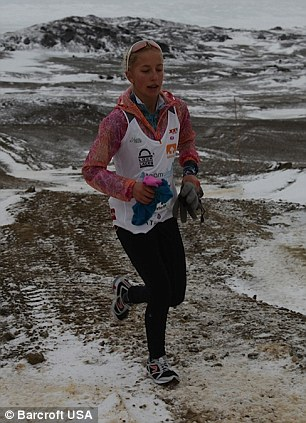 Grit: Winter finished 11th overall in the Antarctica Marathon and was the third female to finish