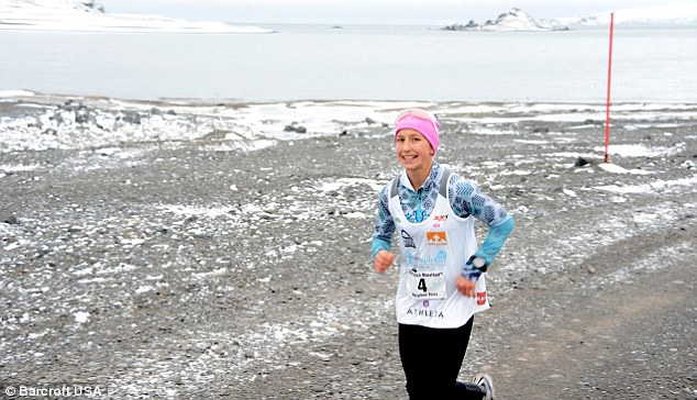Stoic: Winter Vinecki competed in the Antarctica Marathon. The 14-year-old triathlete has become the youngest person ever to complete a marathon on the continent