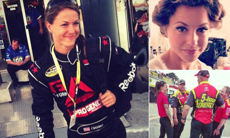 Christmas Abbott: Glamorous weight lifter, 31, becomes first woman member of NASCAR pit crew ...