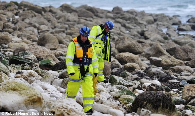Members of the H.M. Coastguard Search and Rescue team scanned the area where Mr Hayball died