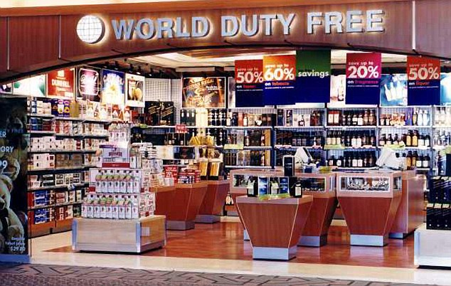 Employment: One of the World Duty Free stores at Heathrow Airport, where Halawi worked for 13 years