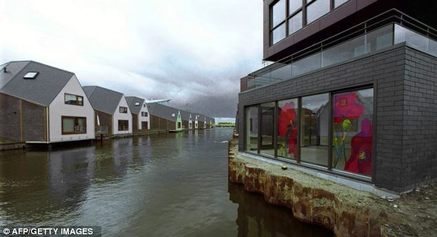 New city: The photo was taken over the city of Almere in Holland (pictured)