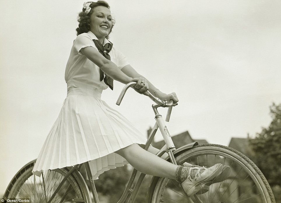Carefree: The women of 1940s America had little to worry about while World War II was waged overseas