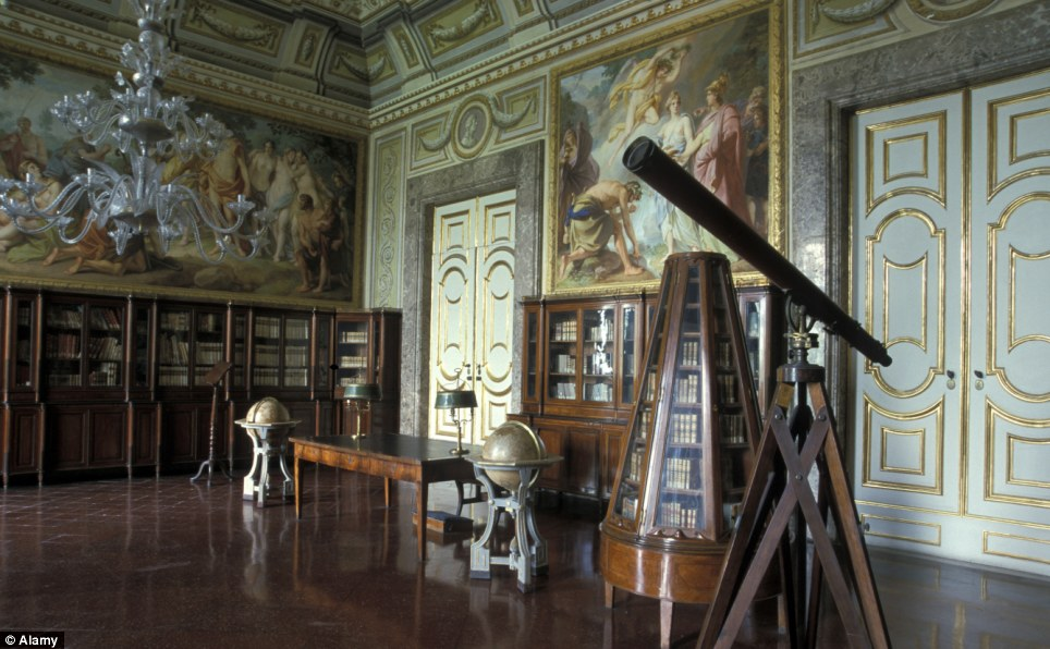 The library in Reggia de Caserya, a 1,200-room palace built in the 18th century for the Bourbon kings of Naples, is at risk from visitors with sticky fingers