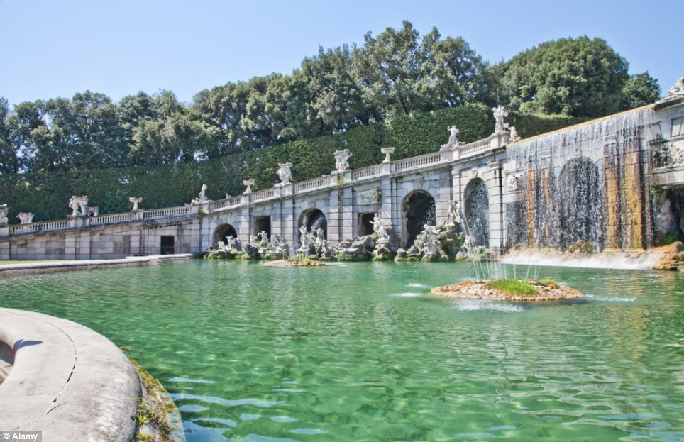 Honoured site: The magnificent palace and its famous gardens saw Reggia de Caserta enter UNESCO's list of World Heritage Sites in 1997