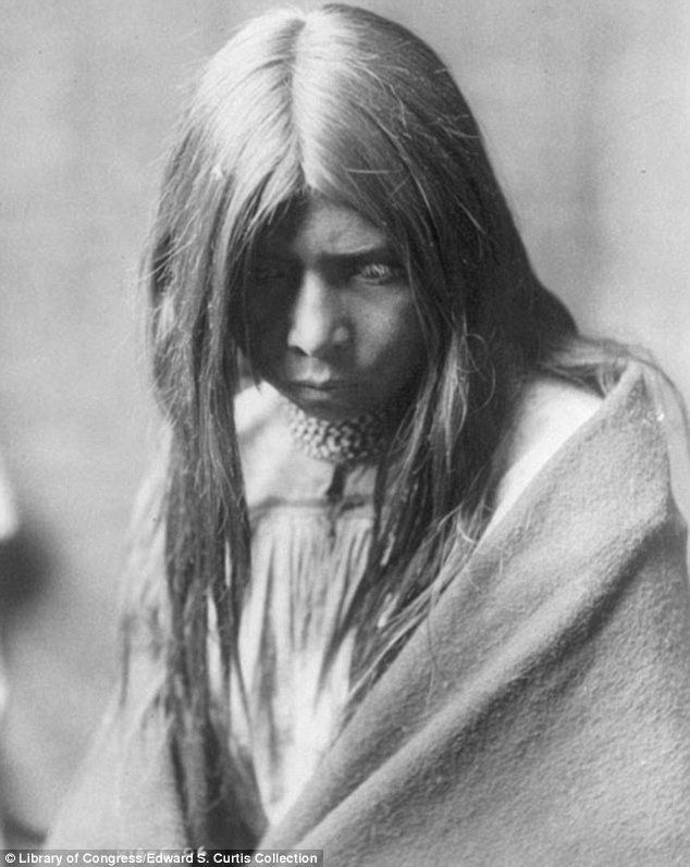 Dreams: A young native American Zosh Clishn, who belonged to the Apache, photographed in 1906