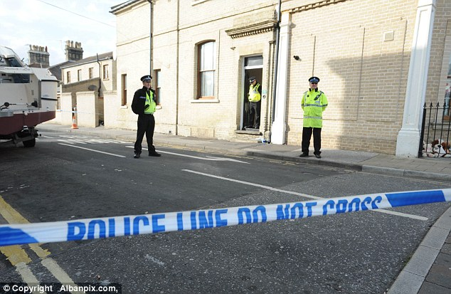 The three children's bodies were taken to the James Paget Hospital at Gorleston for post-mortem examinations