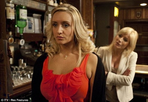 Corrie star Catherine Tyldesley reveals her secrets to weight loss     Corrie star  Playing Eva Price  Catherine has a strop with Stella Price   Michelle