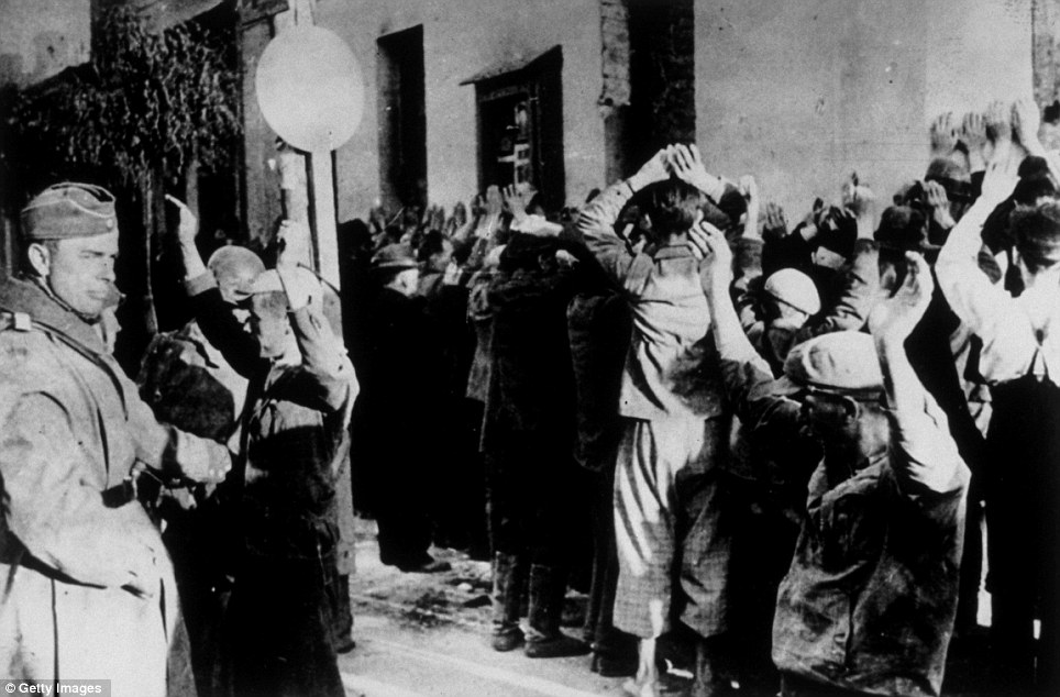 On death row: Upon liquidation of the ghetto by German troops, 7,000 Jews were shot and the remaining 49,000 survivors were deported to concentration camps