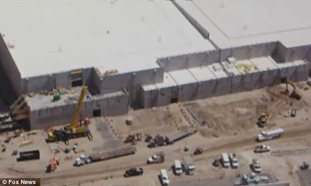 Under construction: An aerial view shows the extent of construction at the Bumblehive site, which the NSA insists will not be used for the unlawful survellance of American citizens