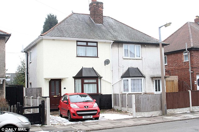 Change of scenery: Matt and Cassey Topham were living in this semi-detached house in Stapleford when they won their fortune