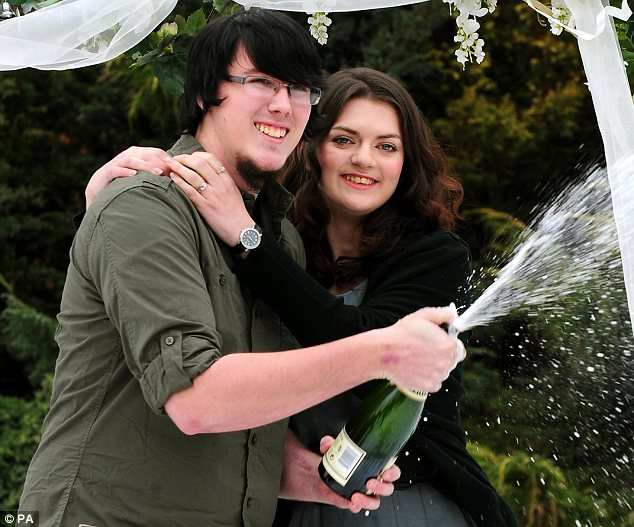 Jackpot: Mr and Mrs Topham won £45million on the EuroMillions lottery last February