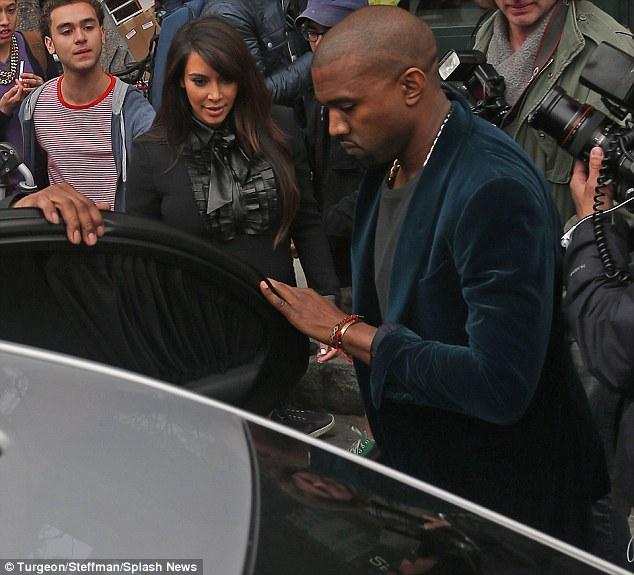 Gentlemen: Kanye also held the door open for his baby mama