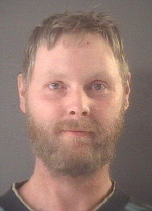 Crime against nature: Kurtis Peterson, 37, was sentenced to one to 15 years in state prison for repeatedly having sex with dogs