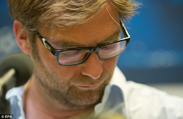 Nice try: Jurgen Klopp tried to dissipate the fury but did not stand a chance