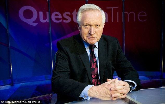 Kind: Amanda was touched by the solicitousness of David Dimbleby and her fellow guests on the panel