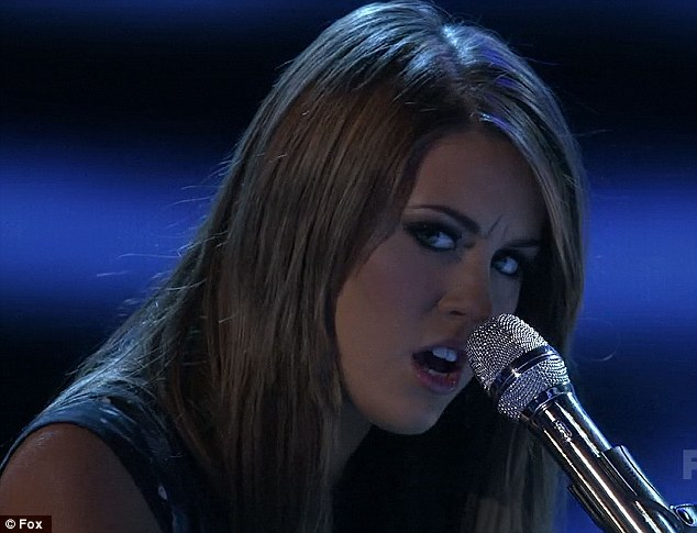 Powerful: And her performance of Celine Dion's The Power of Love matched the song's title