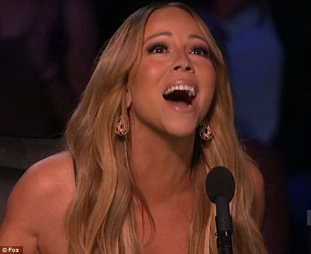 Carey-ing on regardless: And Mariah certainly did not need any Helping Hands as she gave sage feedback