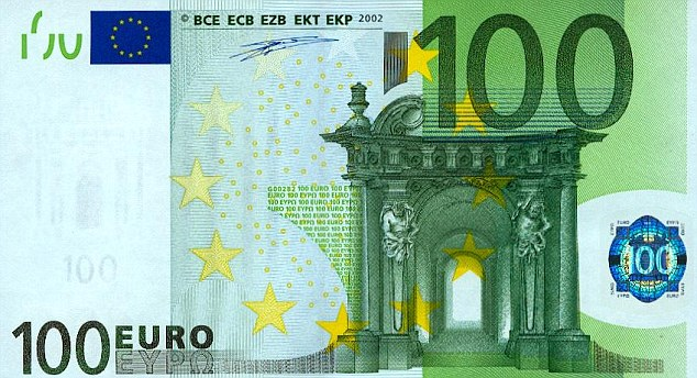 Image result for hundred euros bill