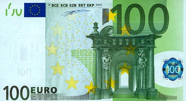 Image result for hundred euros bill