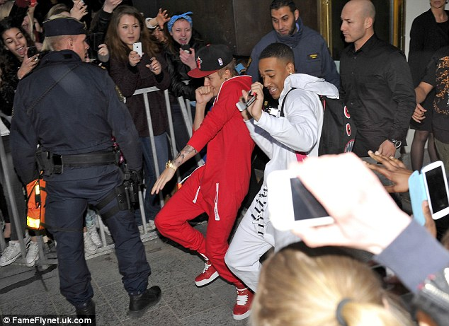 Tempus fugit: Justin Bieber has been accused of arriving six hours late to a photoshoot in Copenhagen, Denmark, over the weekend