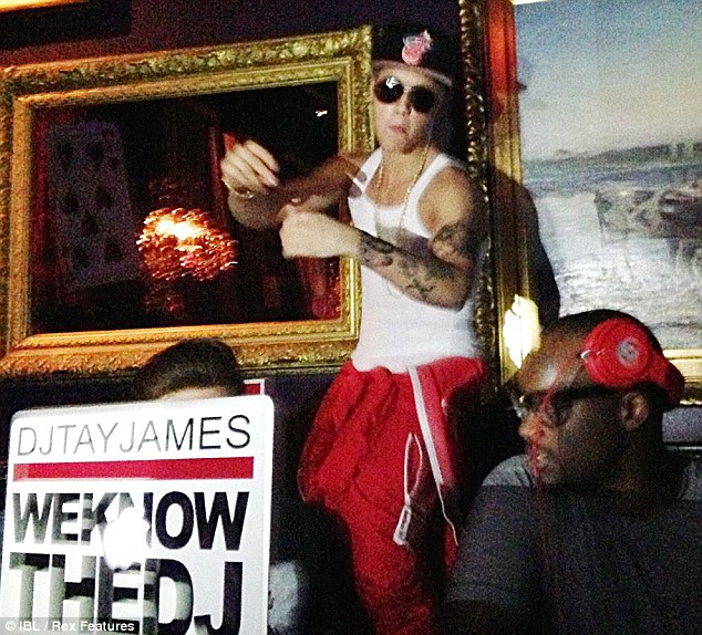 Clubbing: Justin Bieber has been partying heavily at the Rose nightclub in Stockholm