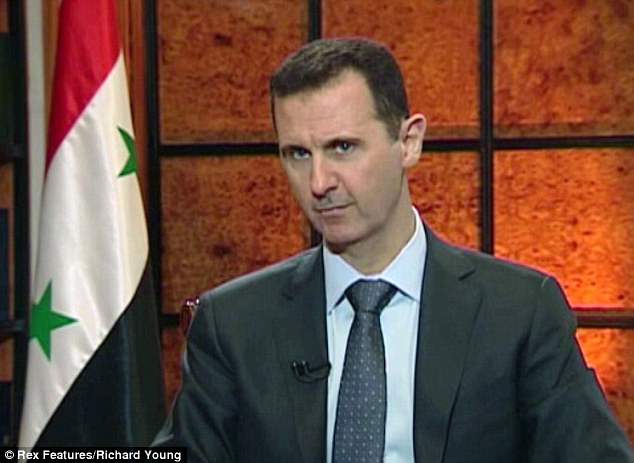 Senior officials say plans have been made for a precision missile attack to force dictator Bashar al-Assad (pictured) into negotiations