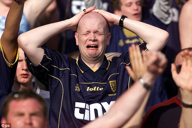 Opening the floodgates: A Wimbledon fan can't hold back the tears in 2000