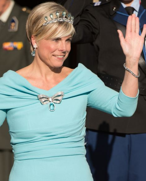 Princess Laurentien arrives at the Dutch Royal Dinner at The Rijksmuseum, Amsterdam, Netherlands