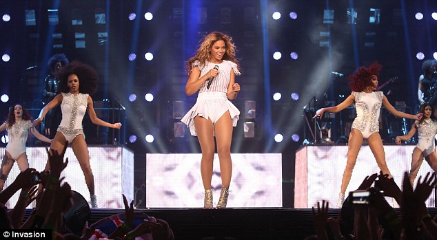 All the single ladies: Their is no denying the mother-of-one looks perfect onstage