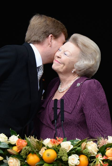 Queen Beatrix of the Netherlands with King Willem Alexander
