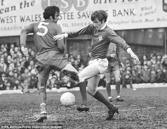 England and England's finest: John Edwards believes Wales' Mike England (left) would work well with Bobby Moore