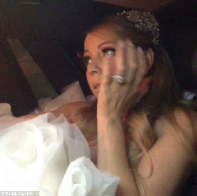 Here comes the bride: The Hero hitmaker was transformed into a fairytale princess for her special evening