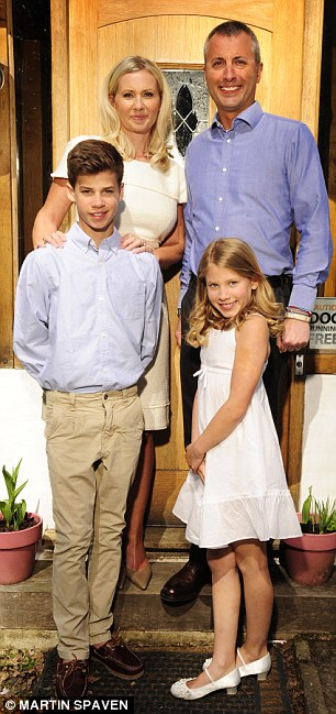 Claire Cisotti pictured with husband Max and their children Mimi (9) and Zac (13)