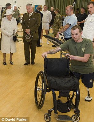 The Queen visits the military recovery centre in Surrey