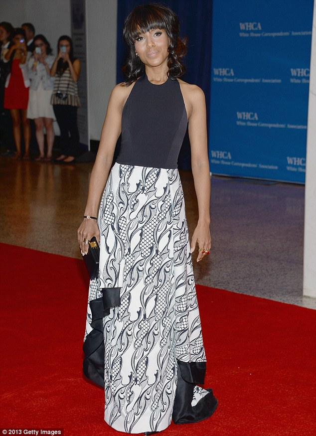 Power player: The actress pictured at the White House Correspondents' dinner, in April