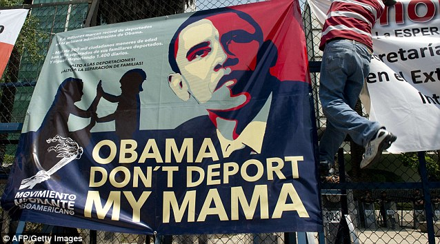Protests: Obama also said he sees a 'new Mexico' emerging, with a deepening democracy and growing economy