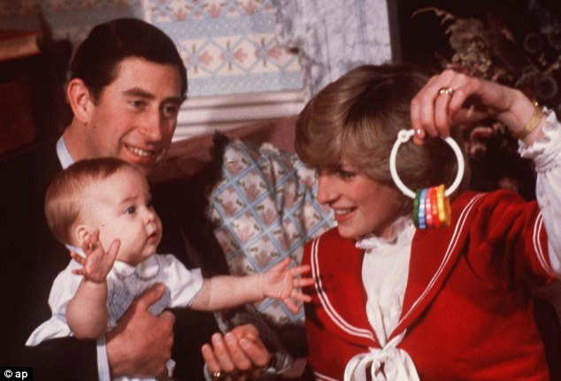 Bringing change: William, with Princess Diana and Prince Charles in 1982, is set to bring a whole new era to the Windsor family