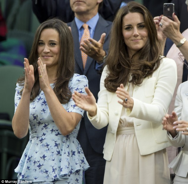 Family bonds: The Duchess of Cambridge's sister Pippa has been accused of using her sister's royal connection for her own business interests