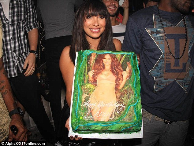 Duo celebration: DWTS' Cheryl Burke was also celebrating her birthday at Emerson on Friday