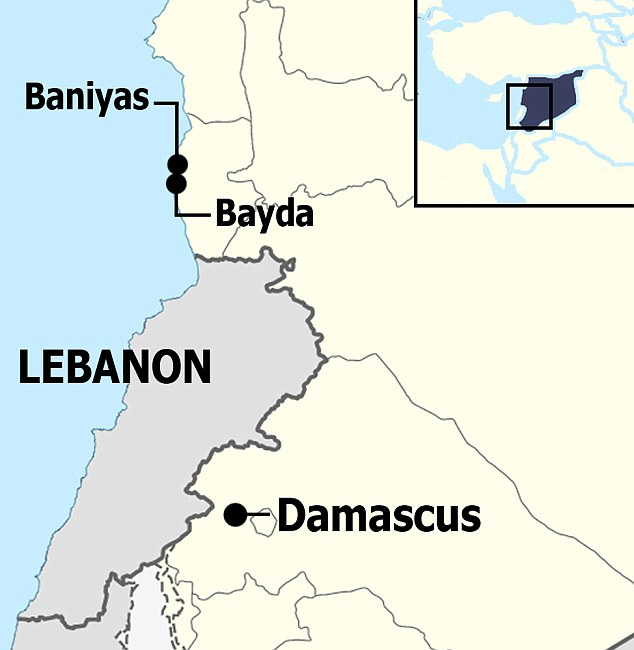 Where the massacres took place in Syria