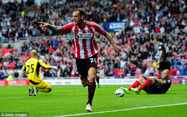 Trailing in his wake: Steve Fletcher made a blistering start to life at Sunderland after his £15m summer move from Wolves and has scored 11 goals overall before injury curtailed his season