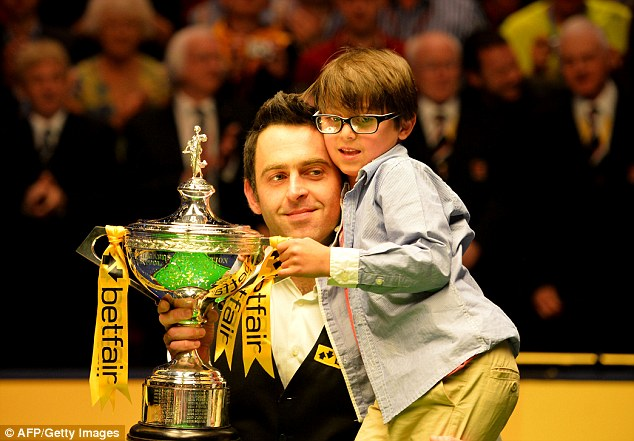 Again: Ronnie O'Sullivan was crowned world champion for the fifth time after beating Barry Hawkins in the final