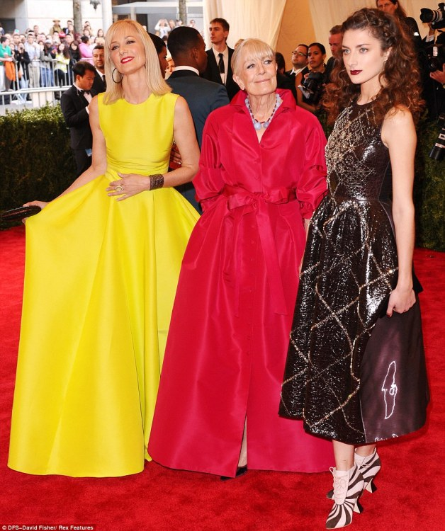 Three generations of Richardsons: Nip/Tuck star Joely Richardson attended the event with her mother Vanessa Redgrave and her daughter Daisy Richardson