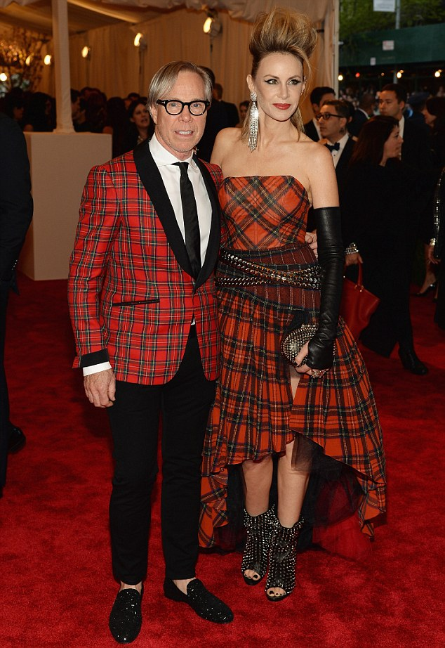 Power punk couple: Tommy and Dee Hilfiger don mismatching plaid for the Costume Institute Gala Punk: Chaos to Couture exhibition at the Metropolitan Museum of Art
