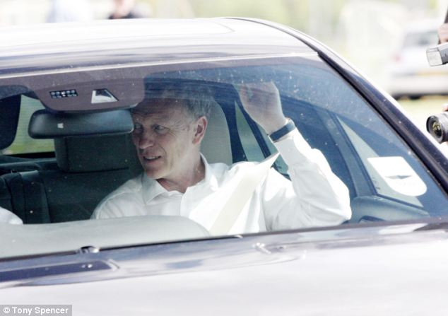 'Hand-picked': Everton manager David Moyes leaving his club's training ground today