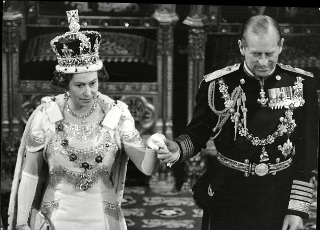 The Queen and Prince Philip in the House of Lords for the 1978 State Opening