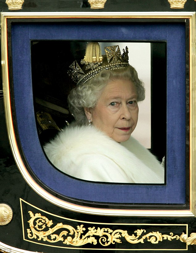 The Queen returns to Buckingham Palace following the opening of Parliament in 2005