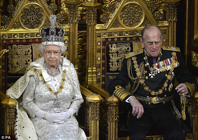 Queen Elizabeth and the Duke of Edinburgh attend the State Opening of Parliament in Westminster